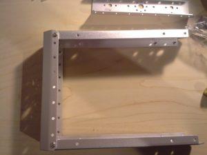 4WD Aluminium Mobile Robot Platform Bild 03: Rahmen verschrauben