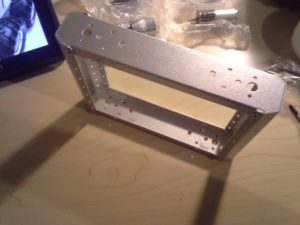 4WD Aluminium Mobile Robot Platform Bild 05: Fertig verschraubte Rahmen