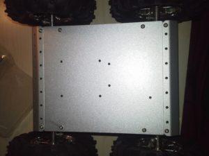 4WD Aluminium Mobile Robot Platform Bild 17: Montage der Bodenplatte