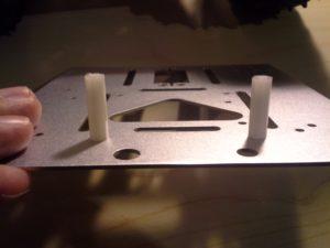 4WD Aluminium Mobile Robot Platform Bild 21: Montage der Halterung