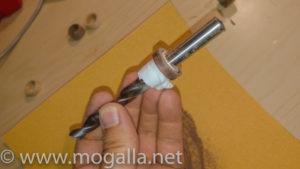 Bild: Ring auf einem Bohrer mit Verdickung aus Tape