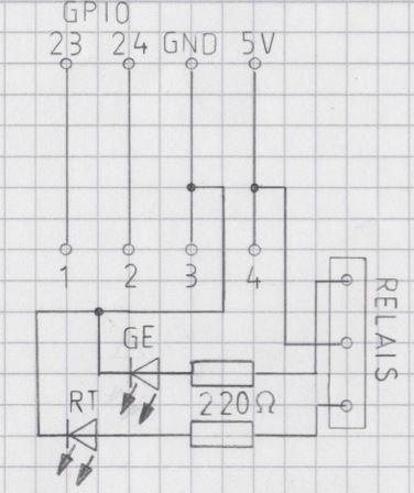 Bild Stromstossrelais Anschluss LED