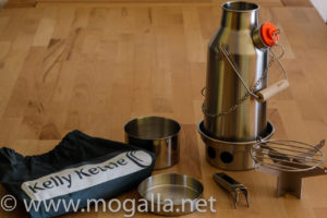 Bild: Inhalt des Kelly Kettle Trekker Set's